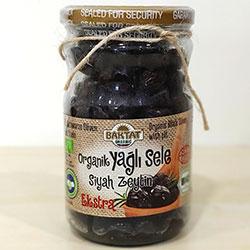 BAKTAT Organik Yağlı Gemlik Sele Siyah Zeytin (Extra) 390gr