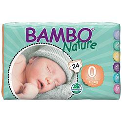 Bambo Nature Ekolojik Bebek Bezi Prematüre 0 (1-3 kg) 24 Adet