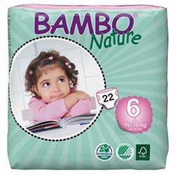 Bambo Nature Ekolojik Bebek Bezi 6 XL (16-30 kg) 22 Adet