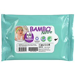 Bambo Nature Organik Islak Mendil 10 Adet