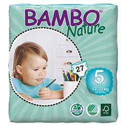 Bambo Nature Ekolojik Bebek Bezi Junior 5 (12-22 kg) 27 Adet