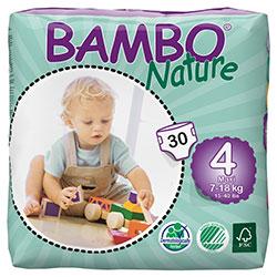 Bambo Nature Ekolojik Bebek Bezi Maxi 4 (7-18 kg) 30 Adet