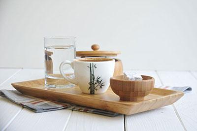 Bambum Doğal Bambu Tepsi (Espresso, Küçük)