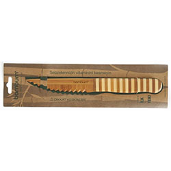 Bambum Doğal Bambu Bıçak (Tırtıklı Küçük, Meyve, Sebze Bıçağı)