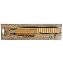Bambum Doğal Bambu Bıçak (Tırtıklı Orta, Şef Bıçağı)