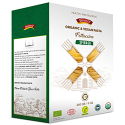 Bemtat Organic Pasta with Spinach  Tomato  250g