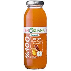 BenOrganic Organik Detox Meyve Suyu  Elma  Tarçın  Zencefil  250ml