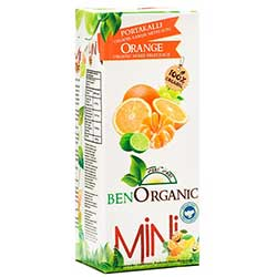 BenOrganic Organik Portakallı Meyve Suyu 200ml