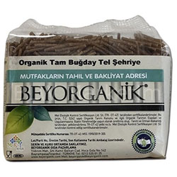 Beyorganik Organik Kepekli Tel Şehriye 250g