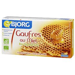 Bjorg Organik Waffles Ballı Bisküvi 175g