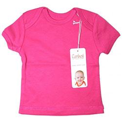 Canboli Organic Baby Short Sleeve T-shirt  Fuchsia  3-6 Month