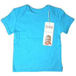 Canboli Organic Baby Short Sleeve T-shirt (Dark Blue, 3-6 Month)