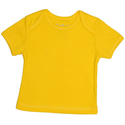 Canboli Organik Bebek Kısa Kollu T-shirt (Sarı, 6-12 Ay)