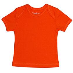 Canboli Organik Bebek Kısa Kollu T-shirt (Turuncu, 12-18 Ay)