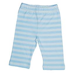Canboli Organik Bebek Pantolon (Çizgili Açık Mavi, 6-12 Ay)