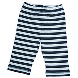 Canboli Organik Bebek Pantolon (Çizgili Gri, 3-6 Ay)