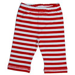Canboli Organik Bebek Pantolon (Çizgili Kırmızı, 3-6 Ay)