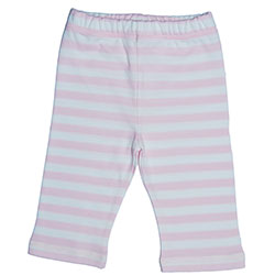 Canboli Organik Bebek Pantolon (Çizgili Pembe, 12-18 Ay)