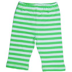 Canboli Organik Bebek Pantolon (Çizgili Yeşil, 0-3 Ay)