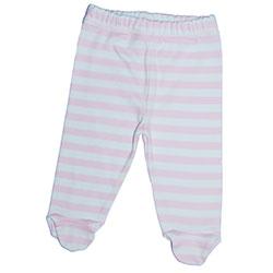 Canboli Organik Bebek Patikli Pantolon (Çizgili - Pembe, 12-18 Ay)