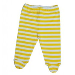 Canboli Organik Bebek Patikli Pantolon (Çizgili - Sarı, 12-18 Ay)