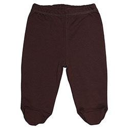 Canboli Organik Bebek Patikli Pantolon (Kahverengi, 0-3 Ay)
