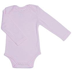 Canboli Organic Baby Long Sleeve Bodysuit Pink  12-18 Month