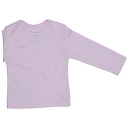 Canboli Organik Bebek Uzun Kollu T-shirt (Açık Pembe, 3-6 Ay)