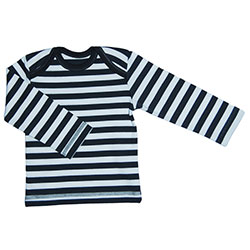 Canboli Organic Baby Long Sleeve T-shirt  Grey Straipe  3-6 Month