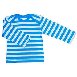 Canboli Organik Bebek Uzun Kollu T-shirt  Çizgili Koyu Mavi  0-3 Ay