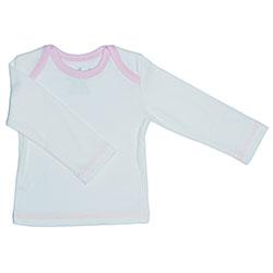 Canboli Organic Baby Long Sleeve T-shirt  Ecru Light Pink  0-3 Month