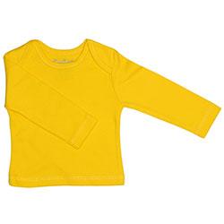 Canboli Organik Bebek Uzun Kollu T-shirt (Sarı, 0-3 Ay)