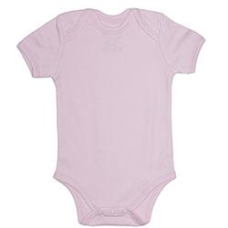 Canboli Organic Baby Short Sleeve Bodysuit  Pink  0-3 Month
