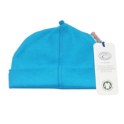 Canboli Organik Bebek Şapka (Mavi, 3-6 Ay)
