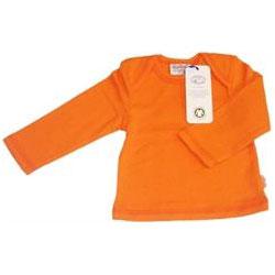 Canboli Organik Bebek Uzun Kollu T-shirt  Çizgili Turuncu  0-3 Ay