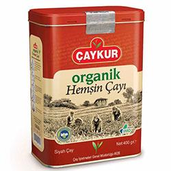 ÇAYKUR Organik Hemşin Siyah Çay 400gr (Teneke Kutu)