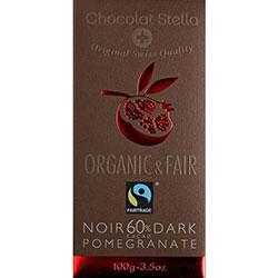 Chocolat Stella Organik Narlı %60 Bitter Çikolata 100gr