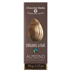 Chocolat Stella Organik Bademli Sütlü Çikolata 50gr