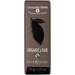 Chocolat Stella Organik %80 Kakaolu Bitter Çikolata 50gr
