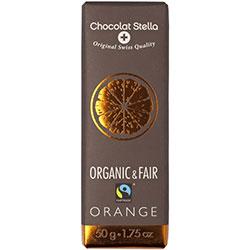 Chocolat Stella Organik Portakallı Bitter Çikolata 50gr
