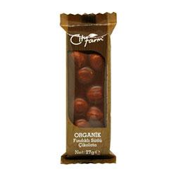 City Farm Organik Çikolata (Fındıklı, Sütlü) 27g
