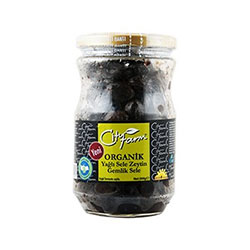 City Farm Organik Gemlik Siyah Zeytin (Süper) 650gr