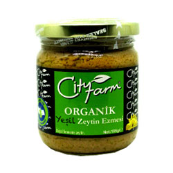 City Farm Organik Yeşil Zeytin Ezmesi 195gr