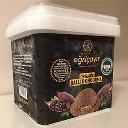 Eğriçayır Organik Ballı Dondurma (Kakaolu) 400ml