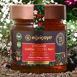 Eğriçayır Organik Sandal Çiçeği Balı  Ham Bal  300g