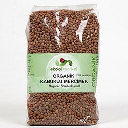Ekoloji Market Organik Kabuklu Mercimek 1Kg