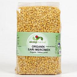 Ekoloji Market Organik Sarı Mercimek 1Kg