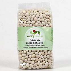 Ekoloji Market Organik Kuru Fasulye (İspir Şeker) 800gr