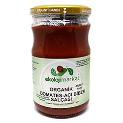Ekoloji Market Organik Domates-Biber Salçası (Acı) 660gr