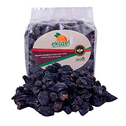Ekozel Organik Çekirdekli Siyah Kuru Üzüm 250gr